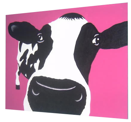 Mad Cow Pop Art Painting