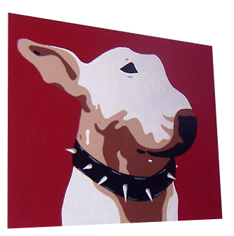 English Bull Terrier Pop Art Painting