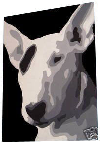 English Bull Terrier Pop Art Painting Black