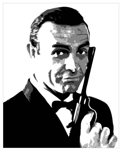 James Bond Sean Connery Pop Art Painting