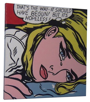 Lichtenstein 'Hopeless' Pop Art Painting